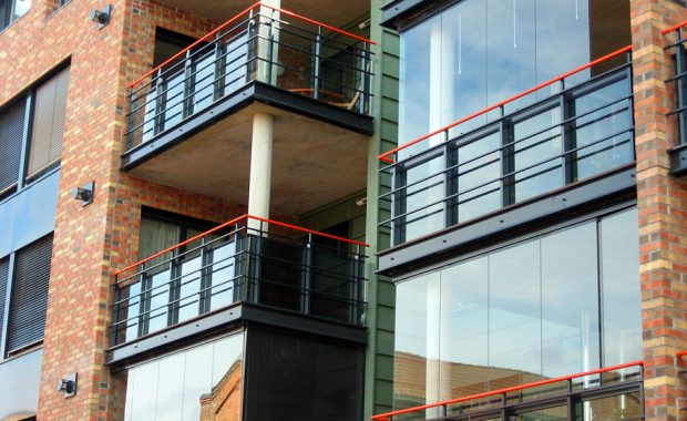 Balkonger med og uten innglassing.