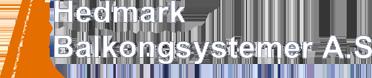 Hedmark Balkongsystemer - Logo